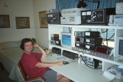 Photo of Trey Garlough N5KO operating at W5KFT
